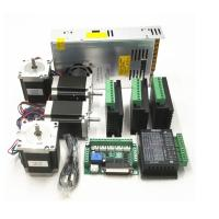 Wholesale CNC Router Kit TB6600 4.0A Stepper Motor Driver + Nema23 255OZ.IN + 5 Axis Interface Board + Power Supply from china suppliers