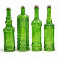 Wholesale Color Spray Glass Bottles with Cork from china suppliers