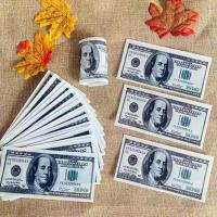 China PRE CUT Dollar Bill Money Theme Wafer Paper Cupcake Toppers Smooth Taste on sale