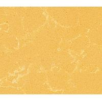 China Spring Yellow Flat / Eased Edge Quartz Kitchen Countertops with CE , ISO Certificate on sale