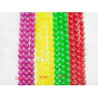 China Semi Precious Gemstone Beads, Red / Green / Yellow / Purple Dyed Jade Bead on sale