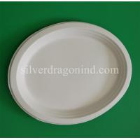 Wholesale Biodegradable Disposable Sugarcane Pulp Paper Plate, Oval Plate from china suppliers
