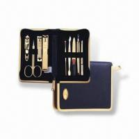 Wholesale Manicure Set with Butterfly Zipper Pocket, Made of Stainless Steel, OEM Orders are Welcome from china suppliers