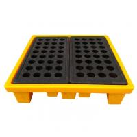 Wholesale High Density Poly 4 Drum Spill Containment Pallets Leak Proof For Drum Tank from china suppliers