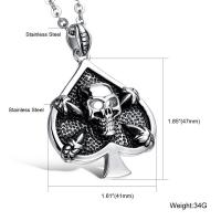 China Men jewelry high quality stainless steel spade skeleton latest fashion jewellery on sale