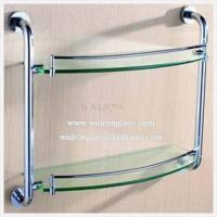 Wholesale Double Layer Bathroom Shelf with Clear Tempered/Toughened Glass From China from china suppliers