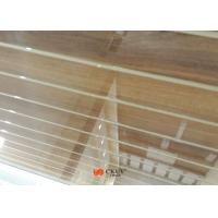 China Customized Wall Decoration Wood Grain MDF Board With White Caved Line on sale
