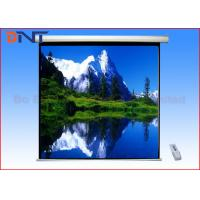 China Presentation Ceiling Mounted Motorized Projector Screen Size 136 Inch 2438*2438mm on sale