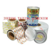 Quality 8011 aluminium tagger foil for sealing milk powder can 90MIC X230MM for sale