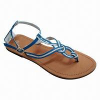 Wholesale Popular Women's Flat Sandal, Available in Various Designs/Materials/Sizes from china suppliers