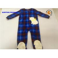 Wholesale Eco Friendly Baby Bear Pram Suit , Long Sleeve Zip Closure Infant Fleece Coveralls from china suppliers