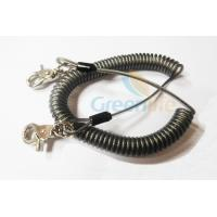 Wholesale Heavy Duty Coil Tool Lanyard , High Security Coiled Security Tethers Load 15KG from china suppliers