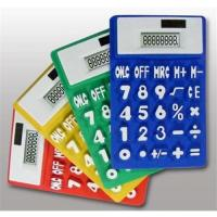 China Foldable and  flexible  Power Pocket silicone Calculator for Promotion gift on sale