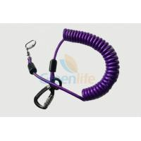 Wholesale Purple Nylon Retractable Tool Lanyard Plastic Covered With Aviation Aluminum Hook from china suppliers