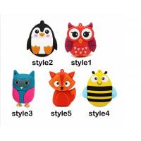 Wholesale Special Design usb flash drive 64gb pendrive 16gb u disk 4gb High Speed Fox Usb 2.0 flash card cartoon from china suppliers
