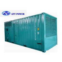 China 756kVA genset Diesel Engine Generator Installed Inside 20ft Soundproof Canopy on sale