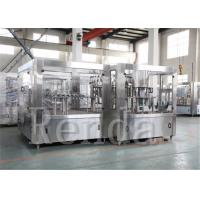 Wholesale Stainless Steel Beverage Vinegar Rinsing  Juice Filling  Machine Sealing 11KW 380V 50HZ 2000BPH|18000BPH from china suppliers