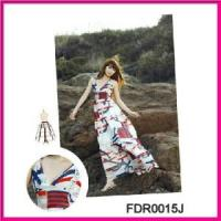 Wholesale Hot Sexy Printed Stretch Beach Dress Swimwear Beach Dress (FDR0015J) from china suppliers