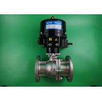 China Water Powered Two Way Ball Valve Stainless Steel 316L Automatic ON OFF on sale