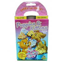 Wholesale Puppies / Kitten Coloring Book Printing Carry And Color Activity Pad Varnishing Finish from china suppliers