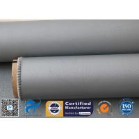 Buy cheap Grey Silicone Coated Fiberglass Fabric 31OZ 0.85MM Industrial Welding Blanket from wholesalers