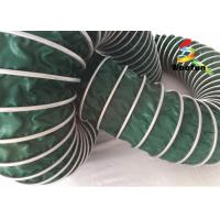 Air Conditioning PVC High Temperature Flexible Duct , Green Heat Resistant Flexible Ducting