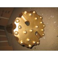 Gold Spherical Concave Drill Bit , Alloy Forging SD6 190 Mm Rock Drill Bits
