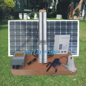China 32M Head 4 inch DC Solar Well Pumps Solar Irrigation Pump JC4-5.5-32 on sale