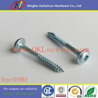 Round head zinc plated particle board screws of