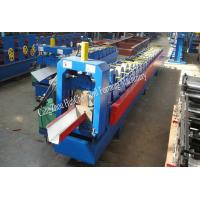 China 18 Roller Stations Rain Gutter Forming Machine With Manual / Hydraulic Uncoiler on sale