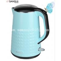 SANSUI YY-17B-02 beautiful blue double anti-scald Diamond pot, 304 stainless steel electric kettle