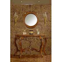 China Home Decorative Dressing Table Mirror Brown Antique Mirrored Console Table on sale
