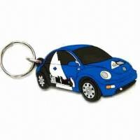 Wholesale Car Shape Keychain, Made of Soft PVC, Customized Designs are Welcome, Measures 40 x 30 x 35cm from china suppliers