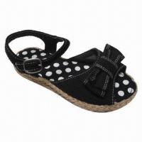Wholesale Fashionable Kids' Flat Espadrilles, Comes in Various Upper Designs, Water-resistant and Durable from china suppliers