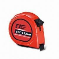 China Retractable Measuring Tape, Made of Steel, Available in Various Lenghts on sale