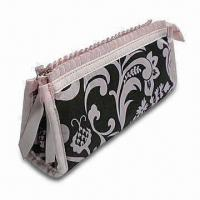 Wholesale Printed Cotton Cosmetic Bag, Customized Designs are Welcome, Various Materials are Available from china suppliers