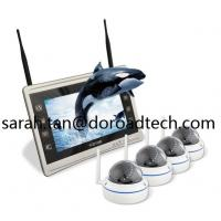 Wholesale 4CH 1080P WIFI IP Dome Cameras NVR Kit WiFi Camera with HD LCD Screen Display NVR from china suppliers