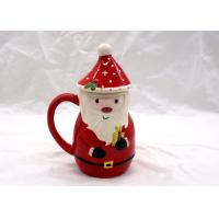 Wholesale 400ml Capacity 3D Ceramic Mug Cartoon Santa Claus Animal Snowman Design  With Cap Lid from china suppliers