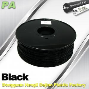 Wholesale 3D Printer Filament 3mm 1.75mm Black Nylon Filament PA Filament from china suppliers