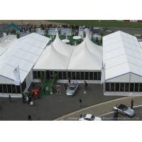 China Water Resistant  20m * 50m Glass Wall Tents With Wooden Flooring on sale