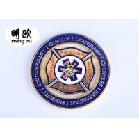 Wholesale Silver Color Custom Challenge Coins / Cut Out Metal Souvenir Coins With Soft Enamel Logo from china suppliers