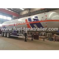 Wholesale Air Suspension 3 Axle LPG Tank Trailer , Lpg Transport Trailers Big Effective Capacity from china suppliers