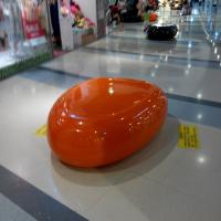 Quality customize size fiberglass chair as decoration statue in plaza hall or supermarke for sale