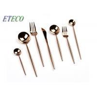 Wholesale Eco-friendly Black And Rose Gold Utensils , Kitchen Cutlery Set Mirror Polish from china suppliers