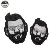 China Beard Man Custom Shirt Patches , Custom Patch Design Any Size Available on sale