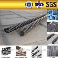China 12.7mm unbonded pc steel strand prestressed concrete steel strand floor slab wire on sale