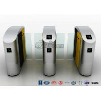 Buy cheap 304 Stainless Steel Flap Barrier Gate Sliding Waist Height Turnstiles With DC Brush Motor from Wholesalers