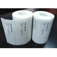 China Adhesive Blank Sticker Labels , Permanent Thermal Transfer Labels on sale