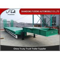 Wholesale 2 Axles Low Bed Semi Trailer 20-40 Tons Machine Loading Spring Steel Suspension from china suppliers