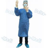 Wholesale Blue Disposable Surgical Gown , SMS Surgeon Gown With Hand Towels from china suppliers